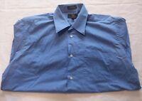 Foggia Men's Dress Shirt Size 16-32/33 Button Down Long Sleeve Blue
