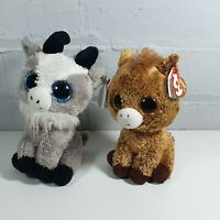 "2 x soft toy 6"" ty beanie boo bundle gabby Harriet"