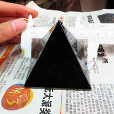 1pc Natural Pyramid Obsidian Quartz Crystal Stone Rock Healing Home Decor Gift