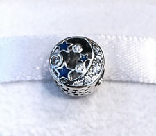 Pandora Vintage Night Sky Shimmering Midnight Charm 791992CZ +Pouch+Gift Package