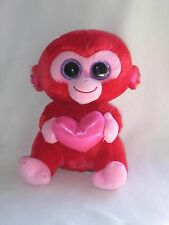 """Ty Beanie Boos Boo Charming Red Monkey Heart 2014 Valentine's Day 9"""""""
