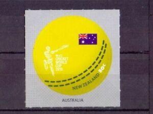 NEW ZEALAND 2015 ICC World Cup Cricket Sport Australia Round Circular stamp Flag