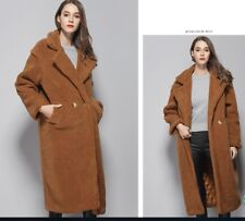 Luxury Women Teddy Bear Feel Oversized  Faux fur  Long Coat
