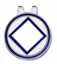NA Golf Ball Marker w/ Magnetic Hat Clip BLUE/ WHITE & SILVER-Recovery Program
