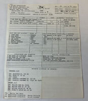 1986 set used movie call sheet ~ LADY IN WHITE