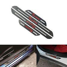 4Pcs SRT Carbon Fiber Car Door Welcome Plate Sill Scuff Cover Decal Sticker