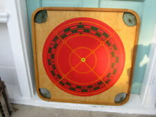 VTG Carrom 95 Game Board Giant Red Bullseye Target Man Cave Bar Wall Art Display