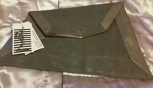 New*Womens Authentic Religion London  Clutch Bag ☆Grey☆Slim envelope style