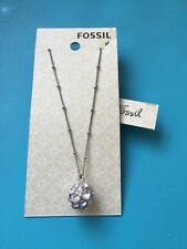 FOSSIL CRYSTAL RHINESTONE Disco BALL PENDANT NECKLACE BRAND NEW WITH TAGS