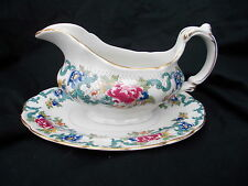 Booth's FLORADORA Gravy Boat and Stand
