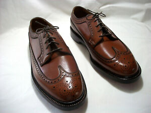 NEW OLD STOCK VNTG FLORSHEIM IMPERIAL KENMOOR V CLEAT BROWN  OXFORDS SIZE 9 EEE