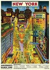 Times Square New York City  Poster Cavallini & Co 20 x 28 Wrap