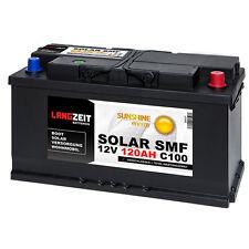 Solarbatterie 12V 120Ah USV Batterie Wohnmobil Versorgung Boot Solar SMF 100AH