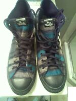 shoes,Converse Woolrich Blue and Black,Cons,Chuck Taylor All Star,Warm,My Design