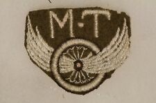 WW2 Canadian British Motor Transport MT Trade Patch Badge