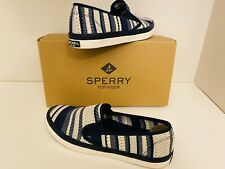 *NEW* Sperry Top Slider Seaside Striped Knit, Size 8.5