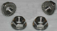 HARLEY EXHAUST HEADER NUTS X 4. WONT RUST ON! ALL MODELS 84 ON. STAINLESS