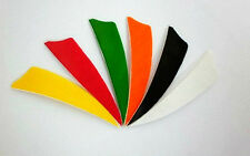 "600) Archery 3"" SHIELD TURKEY FEATHERS Arrow fletching, 6 colors to choose"