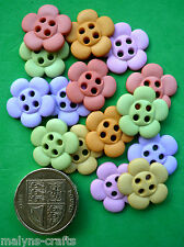 SEW CUTE PASTEL FLOWERS Craft Buttons Novelty Daisy Sewing Garden Daisies Fun
