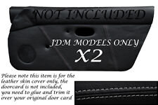 Costura Gris encaja Mazda Mx5 Mk1 Miata 89-97 Jdm 2x Puerta Tarjeta cubiertas de cuero