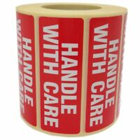 Handle With Care Parcel Labels - Postage Stickers - Permanent Glue Self Adhesive