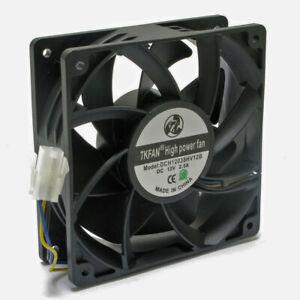285 CFM 12V 2.5A Ultra High Airflow MINER SERVER FAN 120x38mm 3-Pin PWM Control