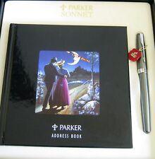 PARKER SONNET VERDIGRIS FOUNTAIN PEN 18K WHITE GOLD FINE NIB - NOS – BOX