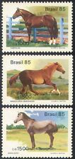 Brazil 1985 Horses/Animals/Nature/Transport 3v set (b5926)