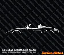 2x silhouette aufkleber - for Porsche Boxter 2012- (981) w/ top down | tuning