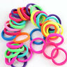 LD_ 50 PCS GIRLS HAIR BAND TIES ROPE RING ELASTIC HAIRBAND PONYTAIL HOLDER SUP