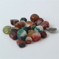 200g Tumbled Stone Multi Agate Quartz Crystal Healing Reiki Mineral Free Pouch