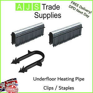 UNDERFLOOR HEATING PIPE CLIPs 60mm STAPLES TO FIT 16MM PIPE WORKS WITH 14-20mm