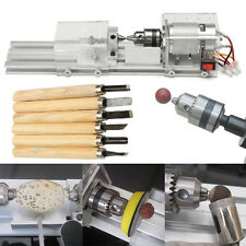 Mini Lathe Beads Polisher Machine 24V 80W for Table Woodworking Wood DIY Tools
