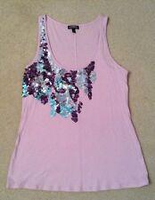 VGC! Womens Express Dream Weight Cotton Purple w/Sequin Top Sz M