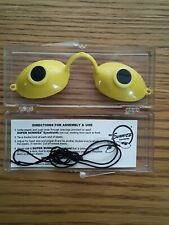 Super Sunnies EVO Protective Sun Tanning Goggles Re-useable! w/ Strap & Case NEW