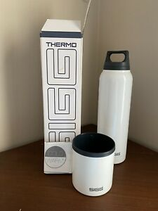 SIGG Swiss Bottle Thermo Flask Hot & Cold White  0.75L BPA Free Leakproof 8448.2