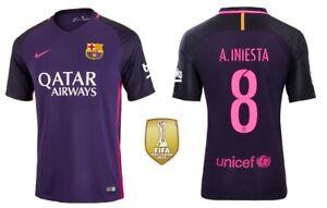 Trikot Nike FC Barcelona 2016-2017 Away WC - Iniesta 8 [128 bis XXL] Barca Badge