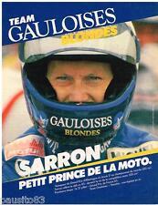 PUBLICITE ADVERTISING 095  1985  TEAM GAULOISES BLONDES  SARRON