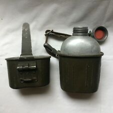GOURDE MILITAIRE ALLEMANDE COMPLÈTE POST WW2 / BUNDESWEHR flask and its mess tin