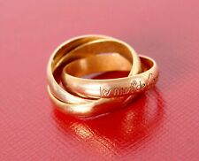 Cartier Trinity Ring Band Wedding Size 47 or 4 U.S. 18k Gold Les Must Tri Color