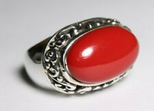 Sterling Silver 925 Ring Size 8 Red Stone