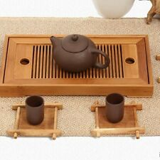 Portable Tasteful Bamboo Gongfu Tea Table Serving Tray Container Chinese Gift AU