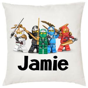 Personalised Kids Lego Ninjago Ninja Cushion Cover, Brand New Design!