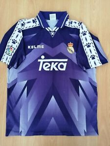 Real Madrid Away Vintage Football Jersey 1996 1997 L Kelme Camiseta Old Rare
