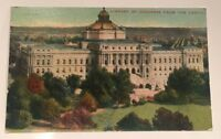 LIBRARY OF CONGRESS from the CAPITOL Washington DC early unused divided postcard