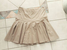 Ladies Size 14 Witchery skirt flattering fitted hips & flared to knees brown