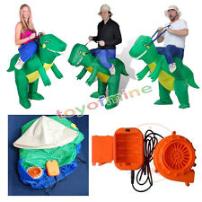 Adult Wind Turbines Dino Rider Halloween Party Funny Inflatable Dinosaur Costume