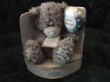 "5"" grey bear with balloon, carte blanche greetings, me to you, birthday"