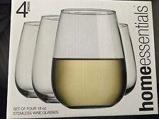 1b8aecff1cf Home Essentials Set of 4 NEW Stemless Wine Glasses