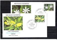 Nouvelle-Calédonie   enveloppe  flore  fleurs      1990